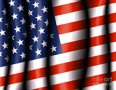 Election Day Digital Art - American Flag by Fenton Wylam