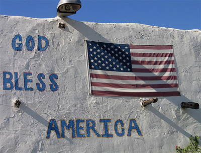 Nirvana - American flag God Bless America restaurant Chandler Arizona 2005     by David Lee Guss