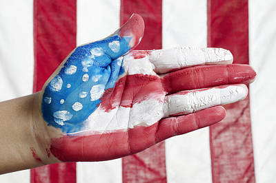 Landmarks Royalty Free Images - American Flag Hand Royalty-Free Image by Skip Nall