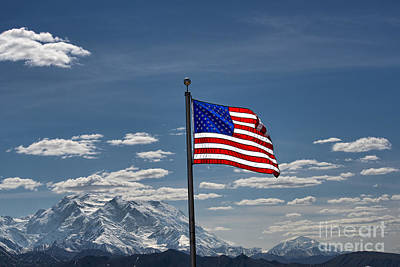 Photograph - American Flag In Alaska by David Arment