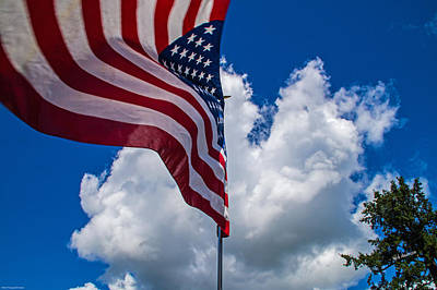 Photograph - American Flag In The Wind by Mick Anderson