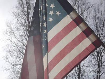 American Flag Art Print by Jennifer Kimberly