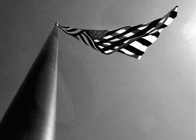 Photograph - Unusual View Of An American Flag  by Jodie Marie Anne Richardson Traugott          aka jm-ART