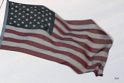 Photograph - American Flag by Lee Hartsell