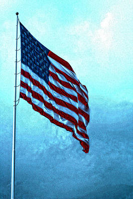 Photograph - American Flag Veterans Park Huntsville Alabama by Lesa Fine