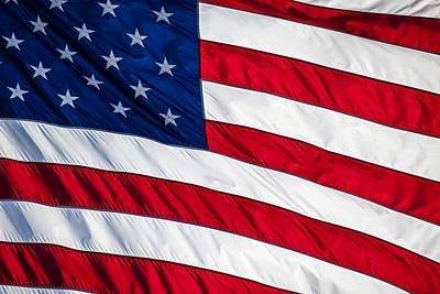 American Flag Art Print by Leslie Banks