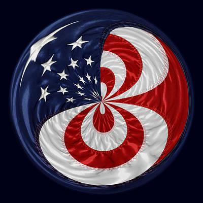 American Flag Orb Art Print by Paulette Thomas