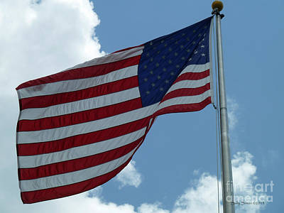 Photograph - American Flag by Sally Simon