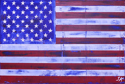 American Flag Print by Sean Keil