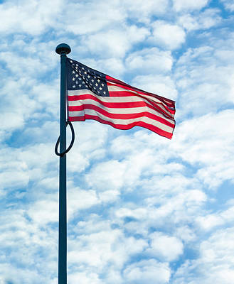 Photograph - American Flag by Semmick Photo