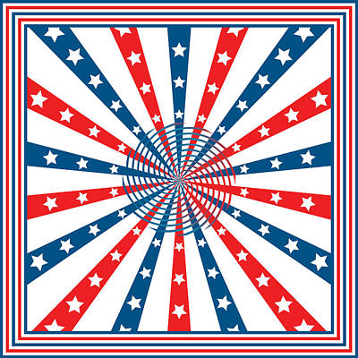 Election Day Digital Art - American Flag Stars And Stripes by Toots Hallam