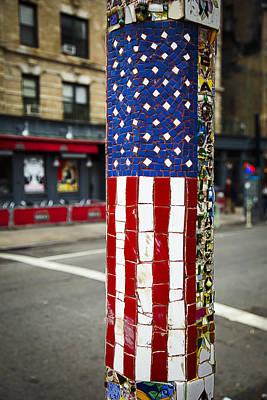 American Flag Tiles Art Print