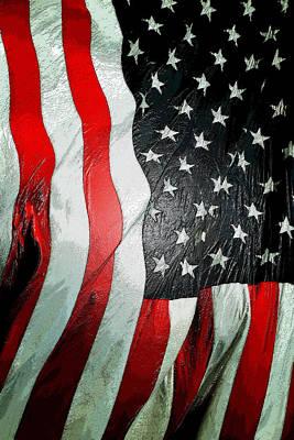 American Flag Vertical Art Print by David Lee Thompson