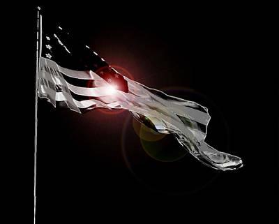 Photograph - American Flag by Jodie Marie Anne Richardson Traugott          aka jm-ART