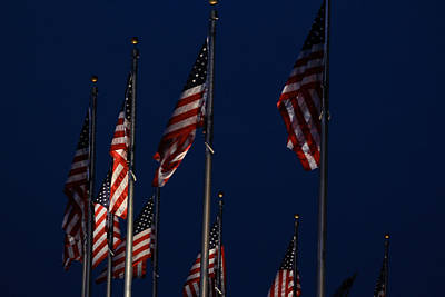 American Flags Art Print by DustyFootPhotography