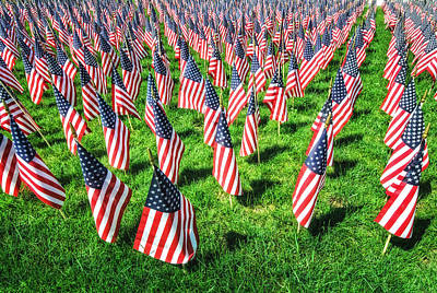 Photograph - American Flags Forever by Gary Slawsky