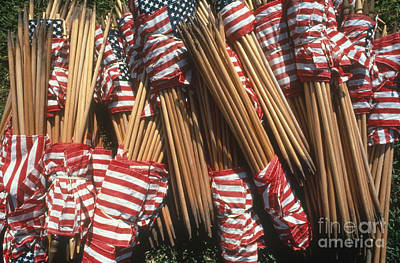 Photograph - American Flags by Joseph Sohm ChromoSohm Media Inc