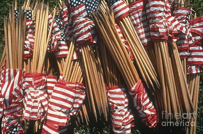 Photograph - American Flags by Joseph Sohm ChromoSohm Media Inc