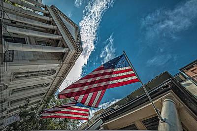 American Flags Art Print by Oleg Koryagin