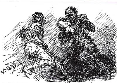 American Football Drawing -  Football  by Ylli Haruni