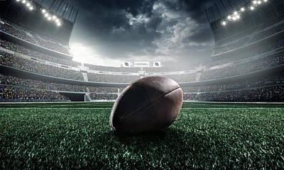 American Football Ball Art Print by Dmytro Aksonov