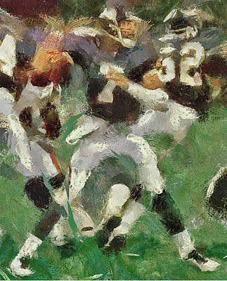 American Football Fight Art Print