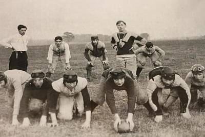 Football Coach Photograph - American Football History by Dan Sproul
