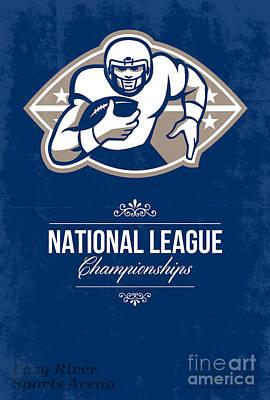 American Football National League Championship Poster  Art Print