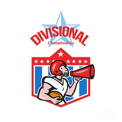 American Football Quarterback Divisional Champions Art Print