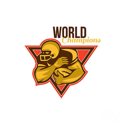 American Football Running Back World Champions Art Print by Aloysius Patrimonio