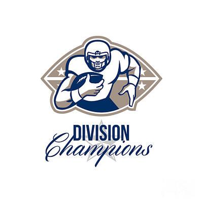 American Football Runningback Division Champions Art Print