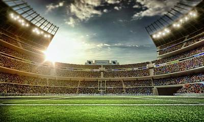 American Football Stadium Art Print by Dmytro Aksonov