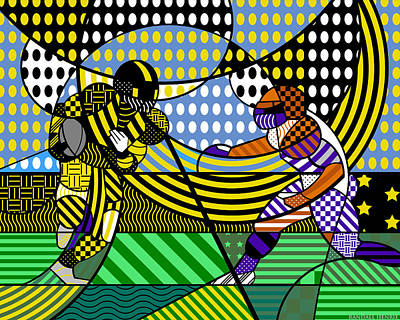 Print featuring the digital art American Football - Steelers by Randall Henrie