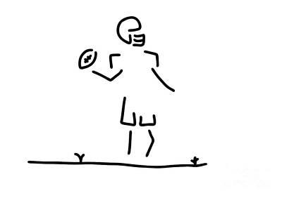 Homerun Drawing - American Football Usa by Lineamentum