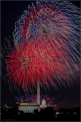 Photograph - American Fourth Of July by Erika Fawcett