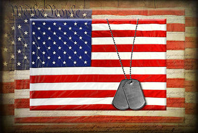 Memorial Day Mixed Media - American Freedom by Maria Dryfhout