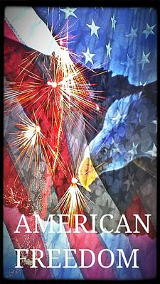 Digital Art - American Freedom by Maria Urso