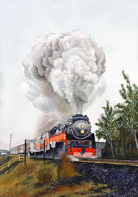 American  Freedom  Train #4449 Art Print by Jeannine Marx Fruci