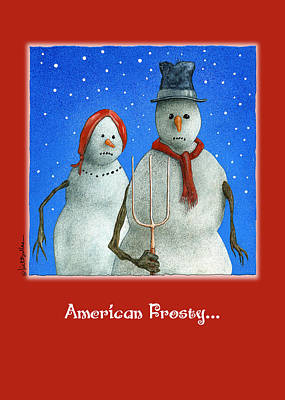 Painting - American Frosty by Will Bullas