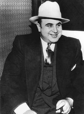 Cigar Photograph - American Gangster Al Capone by Underwood Archives
