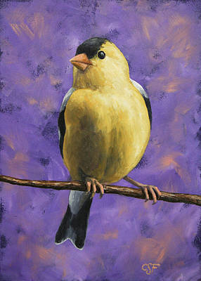 Goldfinch Painting - American Goldfinch by Crista Forest