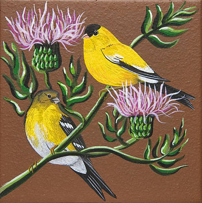 Painting - American Goldfinch by Jennifer Lake