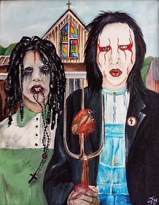 American Goth Art Print by S G Williams