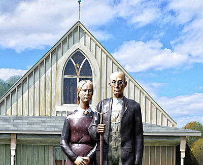 American Gothic Photograph - American Gothic  by Bill Cannon