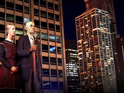 Photograph - American Gothic In Chicago by Kathryn McBride