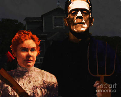 Bordon Photograph - American Gothic Resurrection - Version 1 by Wingsdomain Art and Photography