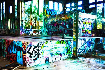 American Graffiti Art Print by Phill Petrovic