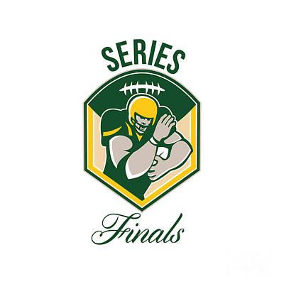 Tailback Digital Art - American Gridiron Running Back Series Finals Crest by Aloysius Patrimonio
