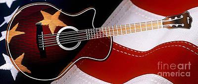 American Guitar Art Print by Marvin Blaine