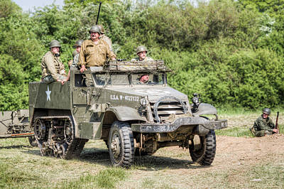 Photograph - American Half Track by Trevor Wintle